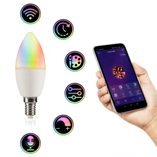 Xlayer Smart Home E14 Leuchmittel RGB-WW - Funktionen