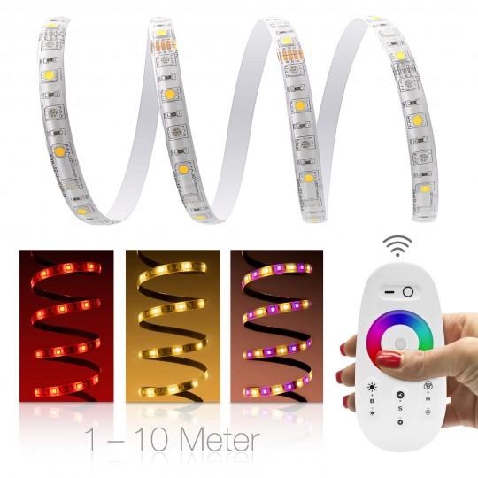 Premium 24V RGBW LED Streifen Set 2 x 30 LED/m - mit Funkfernbedienung