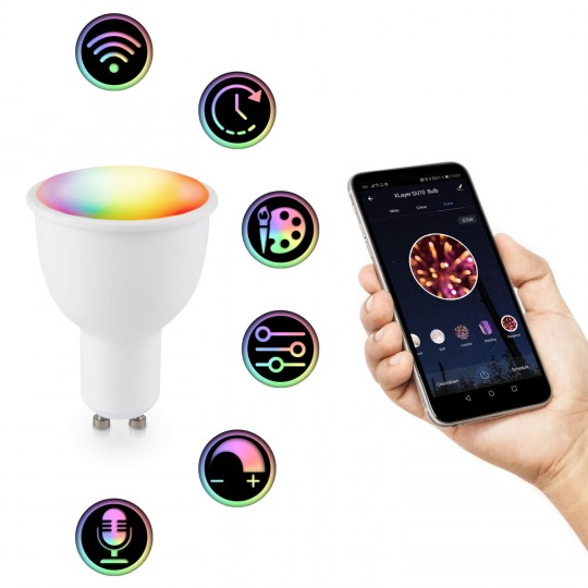 Xlayer Smart Home GU10 Strahler RGB-WW - Funktionen