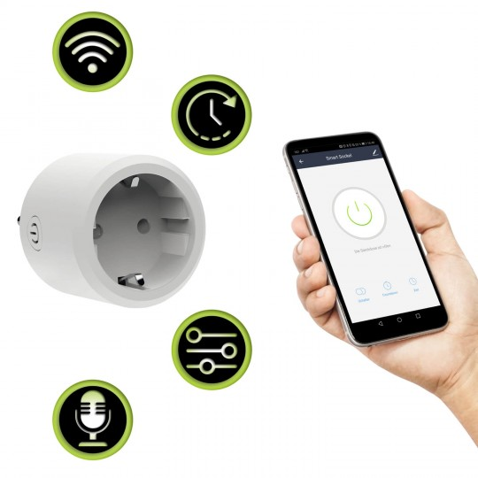 Xlayer Smart Home Steckdose Single Weiß - Funktionen