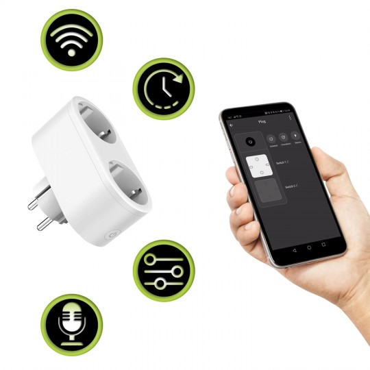 Xlayer Smart Home Steckdose Double Weiß
