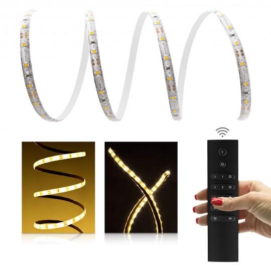 Comfort LED Streifen warmwei?? 60 LED/m - mit 6-Zonen Funkfernbedienung