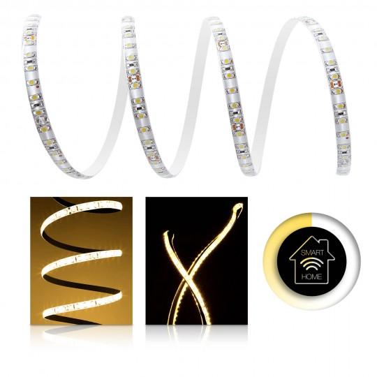 Premium LED Streifen warmweiß 120 LED/m - Smart Home Funk-Set