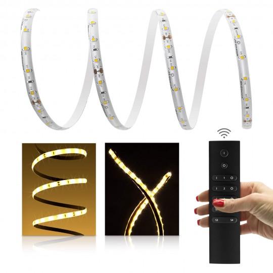 Premium LED Streifen warmweiß 60 LED/m - mit 6-Zonen Funkfernbedienung