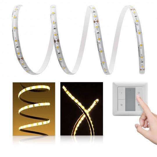 Premium LED Streifen warmweiß 60 LED/m - mit Funklichtschalter