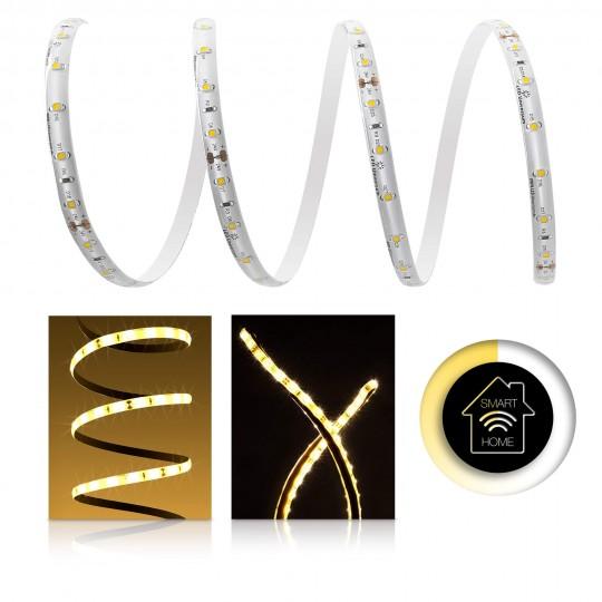 Premium LED Streifen warmweiß 60 LED/m - Smart Home Funk-Set