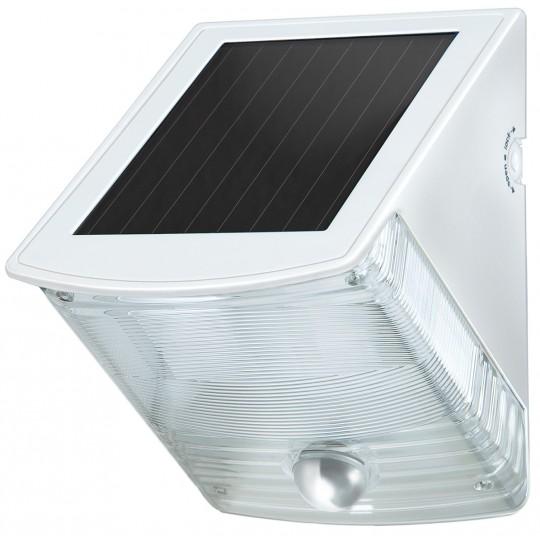 Solar LED Wandleuchte grau-weiß IP44