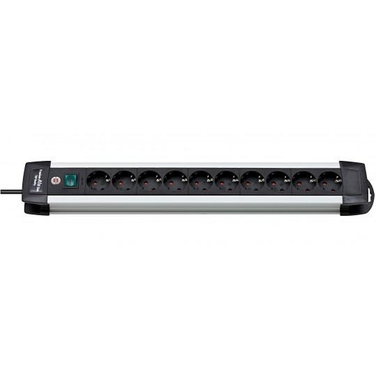 Premium-Alu-Line Steckdosenleiste 10-fach schwarz