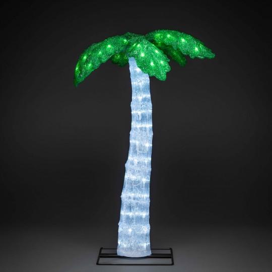 LED Palme: Gartenleuchte und Dekolicht aus Acryl, 75cm hoch