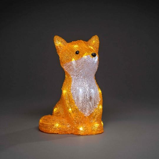 LED Fuchs: Gartenleuchte und Dekolicht aus Acryl, 27cm hoch