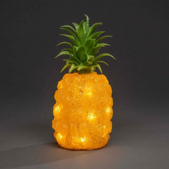 LED Ananas: Gartenleuchte und Dekolicht aus Acryl, 26cm hoch