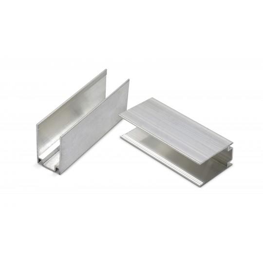 2er Set Aluminium U Schellen für Neonflex Streifen