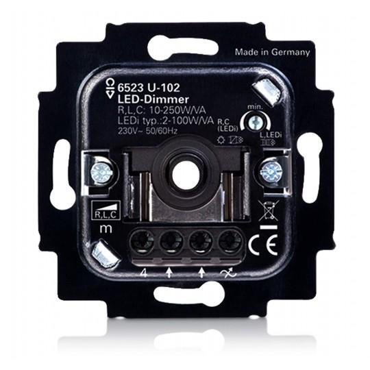 Drehdimmer für einfarbige 230V LED Leuchtmittel bis zu 100W