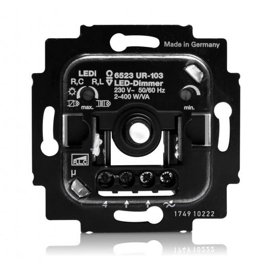 Drehdimmer für einfarbige 230V LED Leuchtmittel bis zu 400W