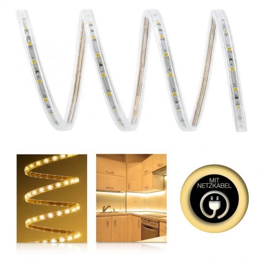 Professional 230V LED Streifen Set warmweiß 60 LED/m