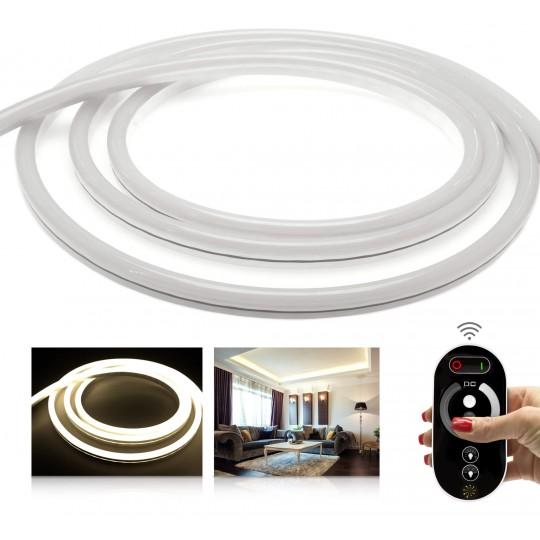 Premium 24V NeonFlex Neutralweiß LED Streifen Funk-Set