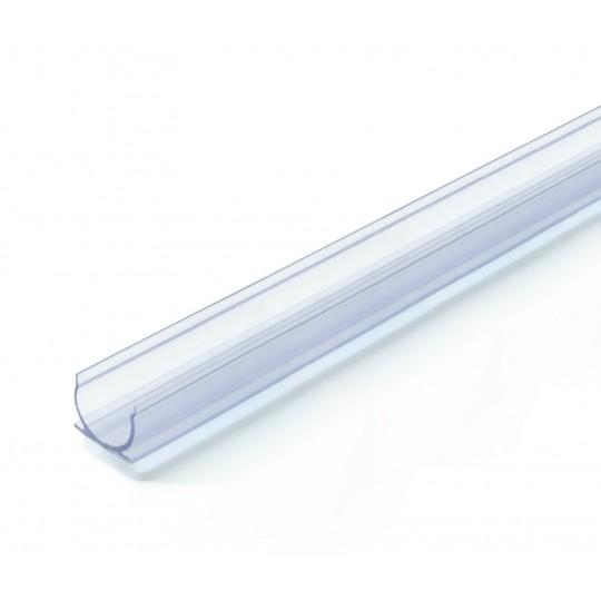 1 Meter Kunststoff U Profil  für Lichtwellenleiter