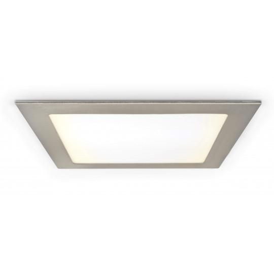 LED Panel 18W - quadratisch - Metalloptik - warmweiß