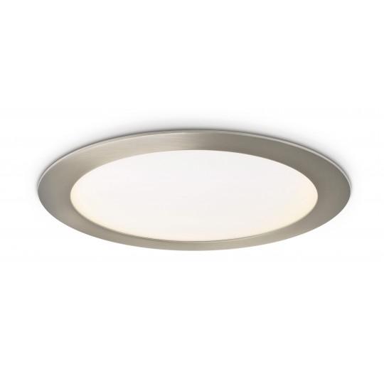 LED Panel 18W - rund 225 mm - Metalloptik - warmweiß