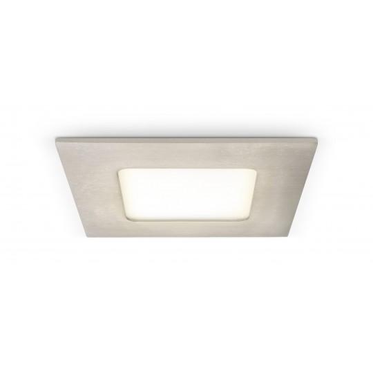 LED Spot 4W - quadratisch - Metalloptik - warmweiß