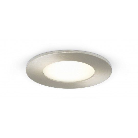LED Spot 4W - rund - Metalloptik - warmweiß