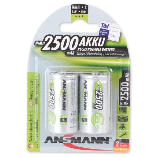 NiMH Akku Baby C 2500mAh maxE (2er Pack)