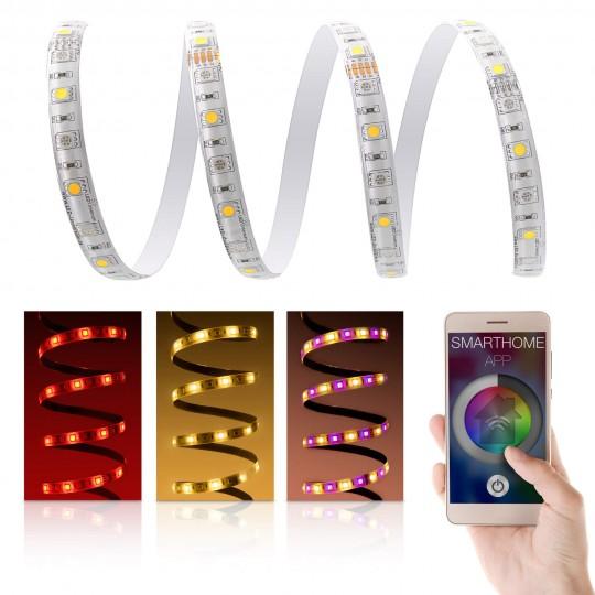 Premium 24V RGBW LED Streifen Set mit App Steuerung