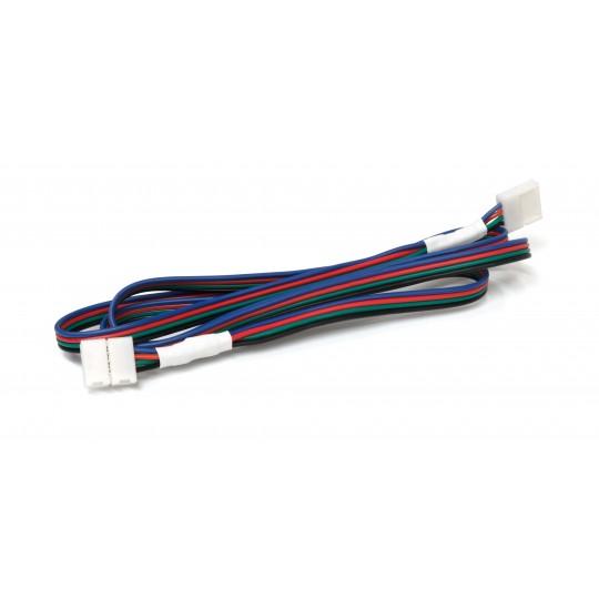 Erweiterungskabel für RGB LED Streifen mit Klippverbindern