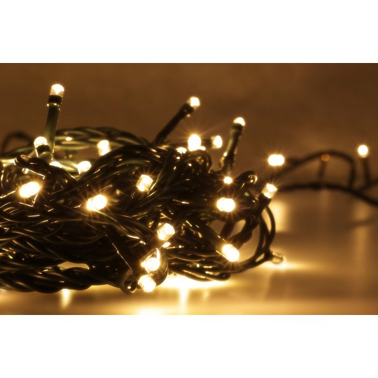 LED Lichterkette warmweiß mit 100 LEDs
