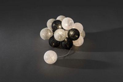 3136-573 Dekolichterkette schwarz weiß grau, Ø 6 cm