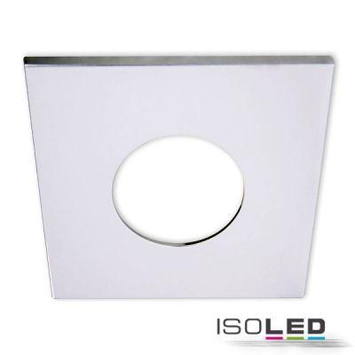 113067 Cover Aluminium eckig chrom für Einbaustrahler Sys-68