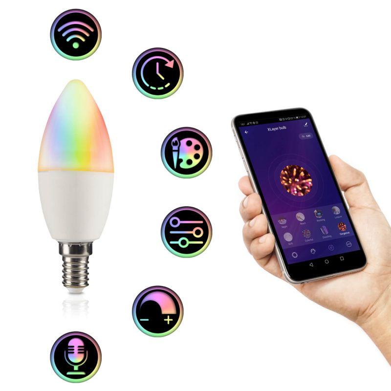 217275 LED Leuchtmittel Smart Echo E14 4.5W 350lm RGBW Dimmbar