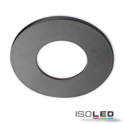 113059 Cover Aluminium rund schwarz matt für Einbaustrahler Sys-68