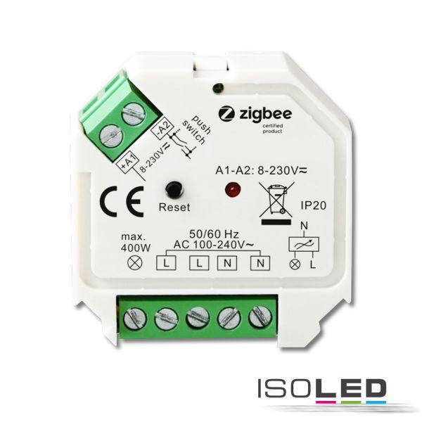 114728 ZigBee 3.0/Push Universal Triac-Dimmer 230V, 200VA
