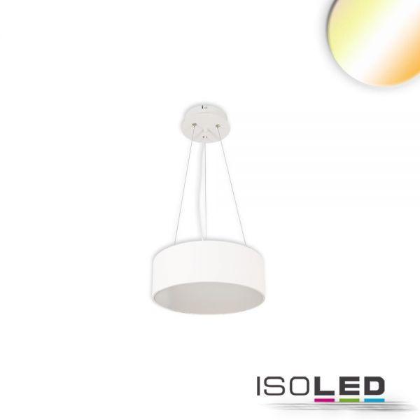 113801 LED Hängeleuchte, DM 40cm, weiß, 25W, ColorSwitch 3000 3500 4000K, dimmbar
