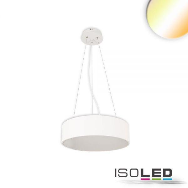 113802 LED Hängeleuchte, DM 60cm, weiß, 52W, ColorSwitch 3000 3500 4000K, dimmbar