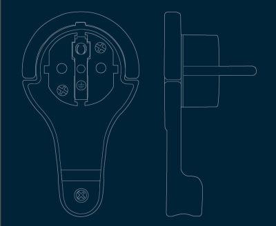 Schutzkontakt-Verlängerung  Kunststoff IP20 2m Kabel weiß