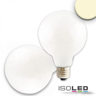 112596 E27 LED Globe G95, 8W, 360°, milky, warmweiß, dimmbar