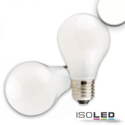 112607 E27 LED Birne, 8W, milky, neutralweiß, dimmbar