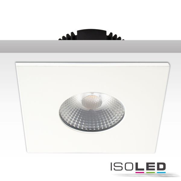 113063 Cover Aluminium eckig weiß matt für Einbaustrahler Sys-68
