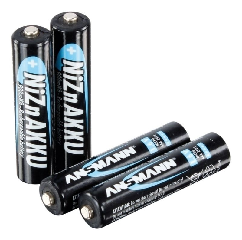 ANSMANN 4er NiZn Hochleistungsakku Batterie Micro AAA 1,6V 900mAh