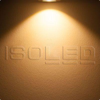 112214 LED Bodeneinbaustrahler, quadr. Edelstahl, IP67, 7W COB, 90°, warmweiß