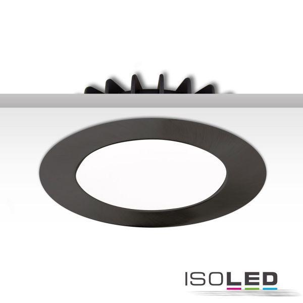 113338 Cover Aluminium rund schwarz für Einbaustrahler Sys-90