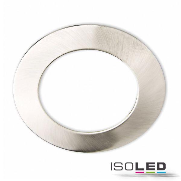 113337 Cover Aluminium rund chrom matt für Einbaustrahler Sys-90