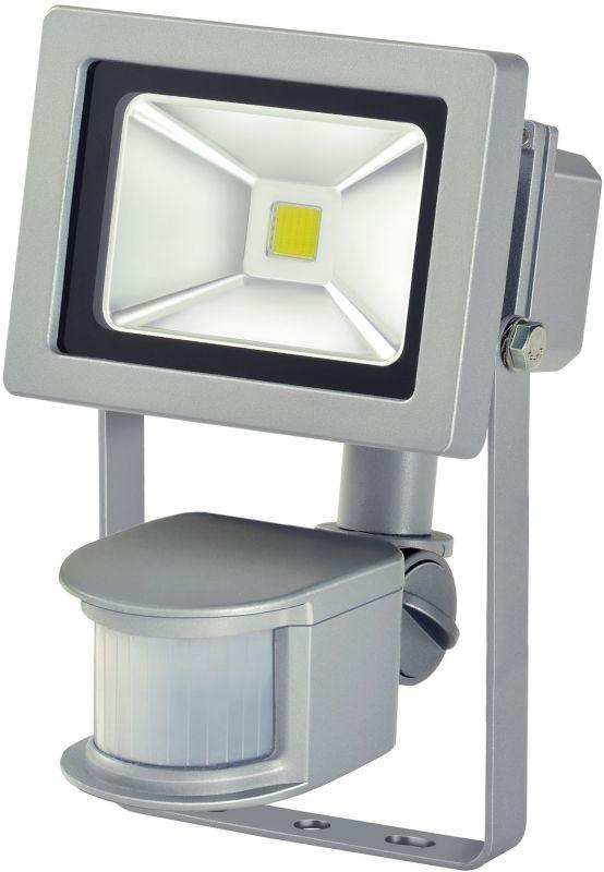 Chip-LED-Strahler mit Bewegungsmelder IP44 10W 750lm A+ silber