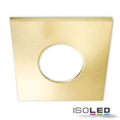 113066 Cover Aluminium eckig gold gebürstet für Einbaustrahler Sys-68