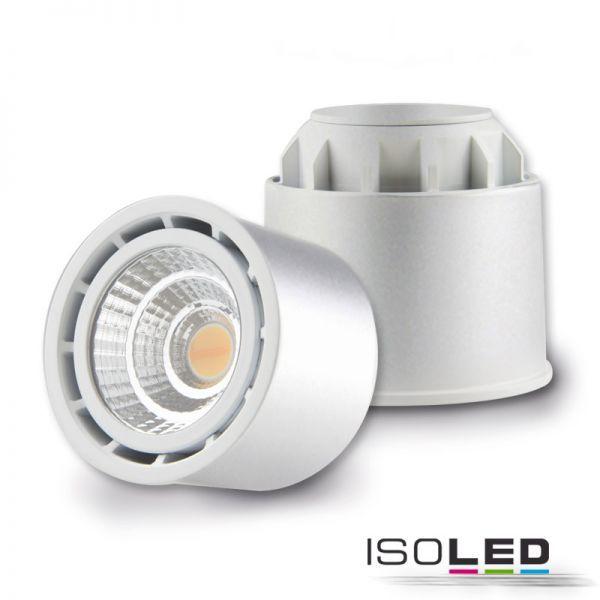 112672 LED Spot SUNSET GU10 10W, silber, 45°, 2000-2800K, externer Trafo, Dimm-to-warm